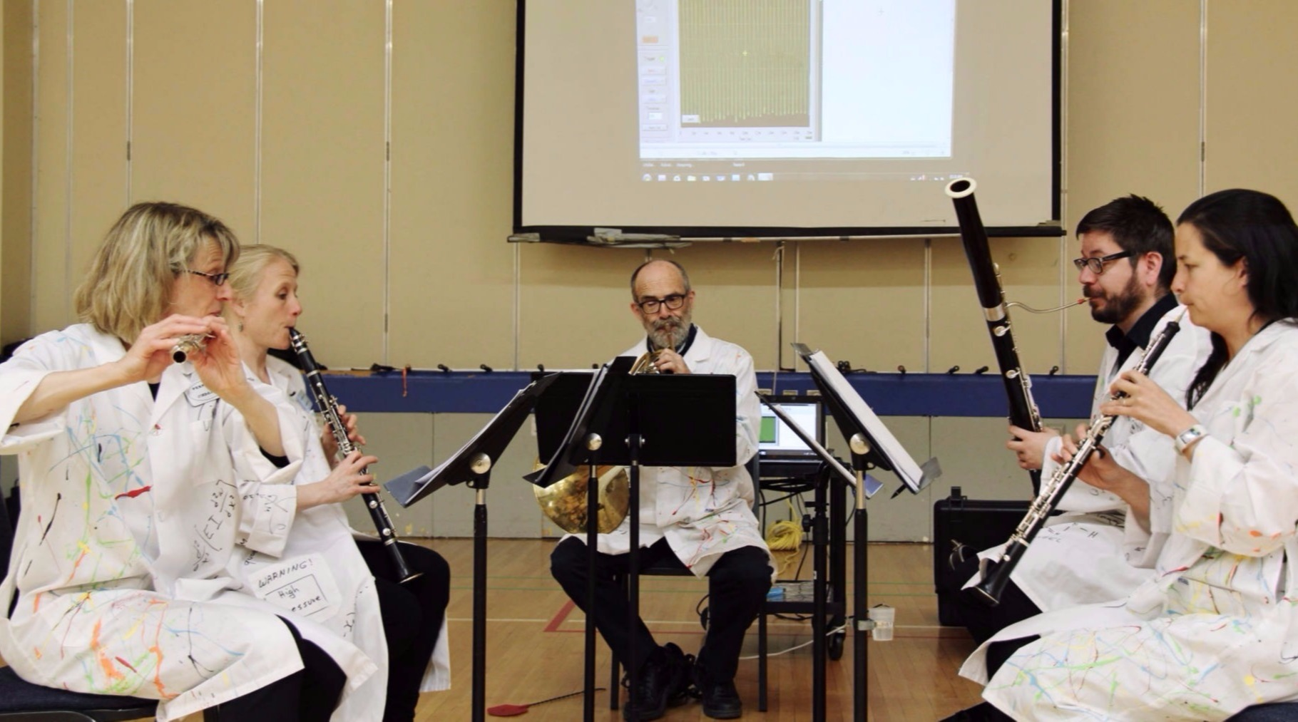 Perfect Cadence (in Lab Coats) during a school performance
